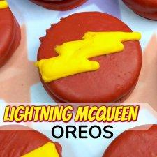 Lightning McQueen Oreos (Inspired by Disney Cars)