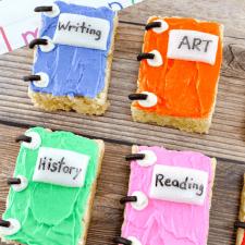 School Books Rice Krispies Treats
