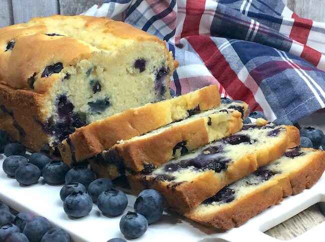 Forget muffins!! Take advantage of the summer growing season with this amazing blueberry loaf! Perfect for breakfast, dessert, or anytime!