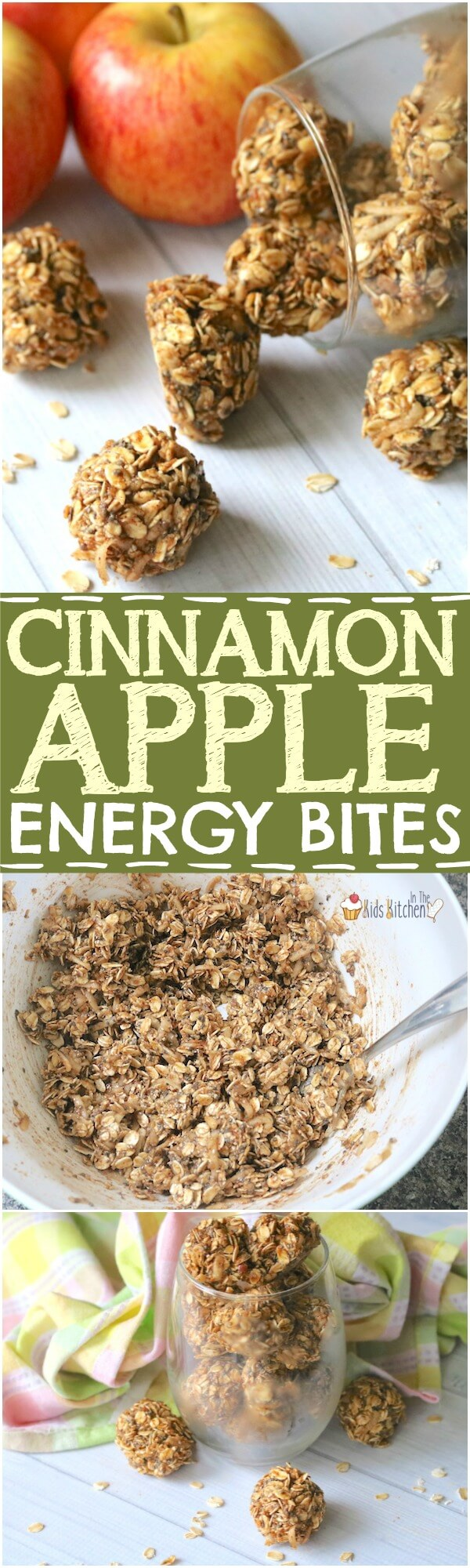 A healthy snack that both kids and parents can agree on — these yummy bite sized Apple Cinnamon Oat Balls take just minutes to make!