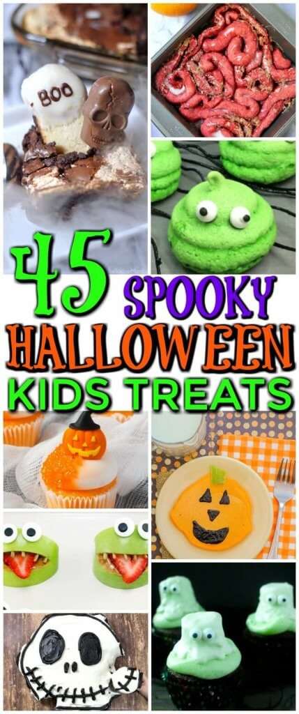 Click for the creepiest, coolest collection of Kids Halloween Snacks and desserts!