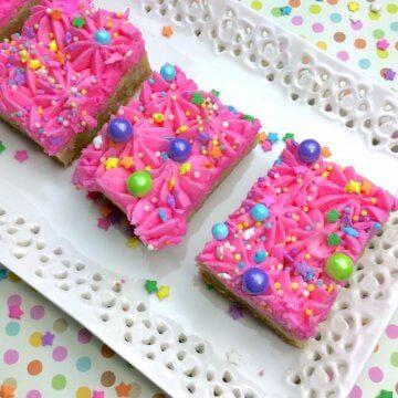 Sparkly Unicorn Sugar Cookie Bars