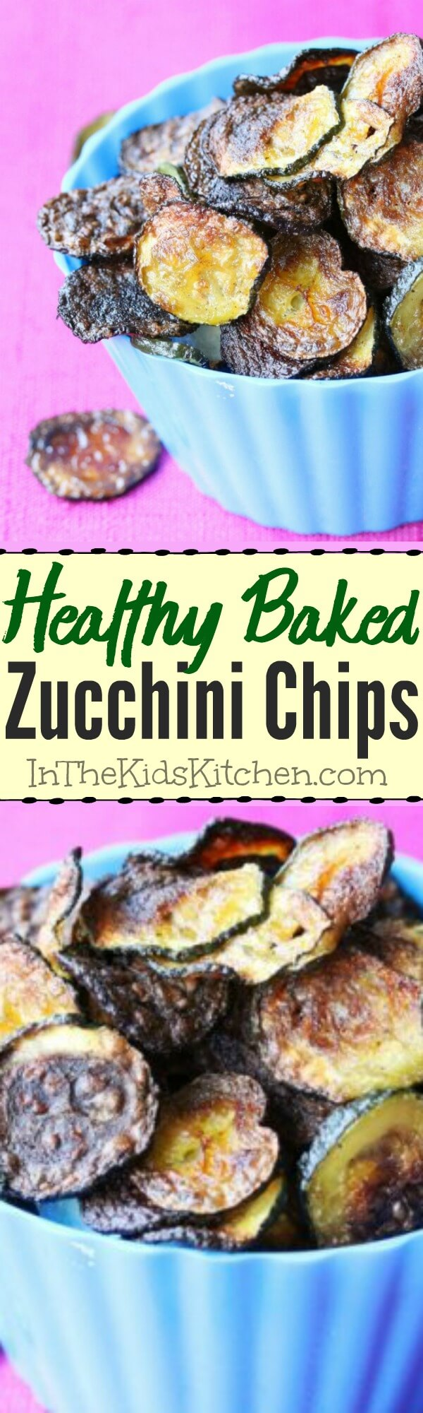 Zucchini chips are a healthy snack that kids will love! A win-win!