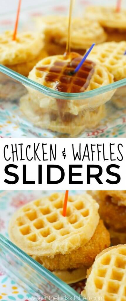A bite-sized version of a Southern classic, these Chicken & Waffles Sliders are finger-licking good! Perfect for breakfast, lunch, dinner...anytime!