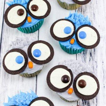 Cute & Easy Owl Cupcakes