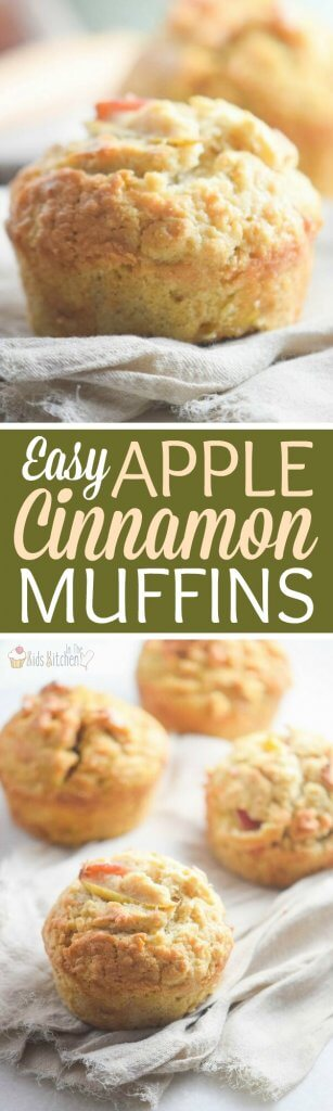 Our easy apple muffins make the perfect make-ahead breakfast to grab-n-go! Made with real apples and simple, real-food ingredients, they're a guaranteed hit with kids!