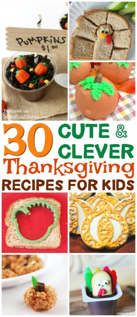 From breakfast to dessert, we've got it covered with this complete collection of creative kids Thanksgiving recipes!