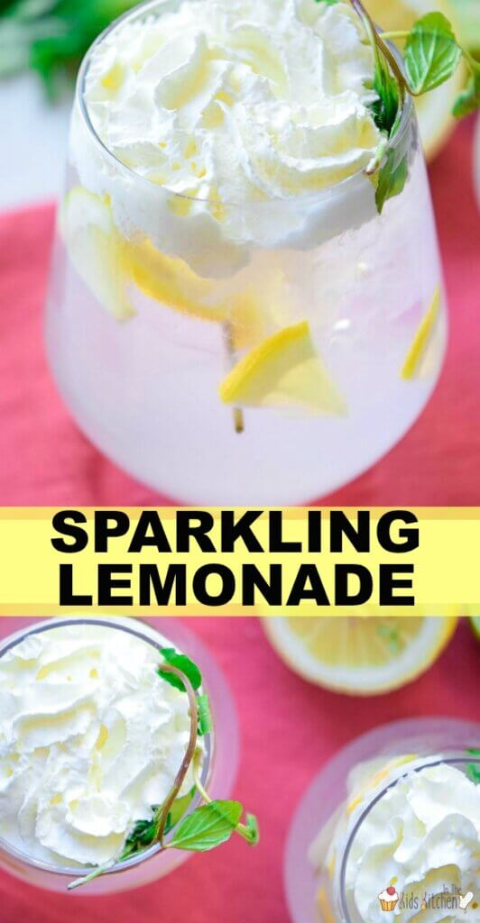 Sparkling lemonade just like you'd find in an Italian restaurant! Easy to make homemade fizzy lemonade recipe that kids and grown-ups will both love.