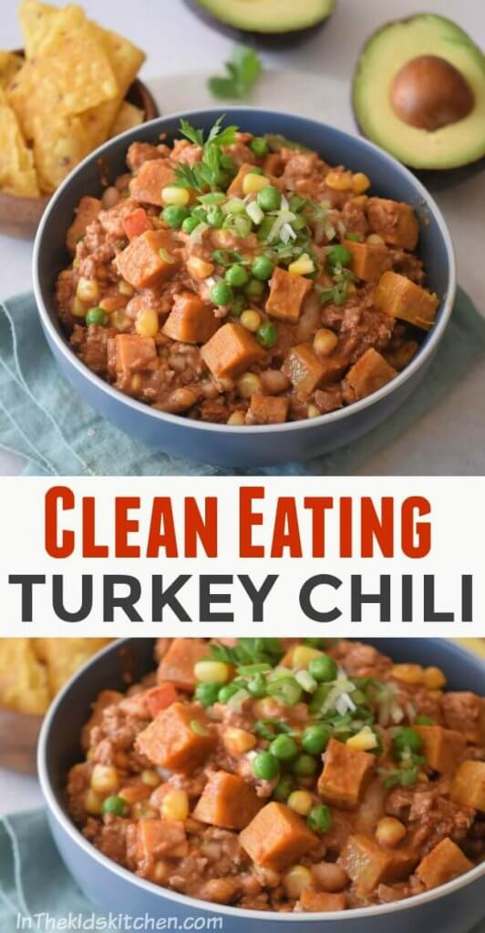 This Sweet Potato & Turkey Chili is the perfect family-friendly comfort food! Easy and healthy recipe ready in about 30 minutes!
