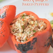 Healthy Turkey and Rice Stuffed Peppers