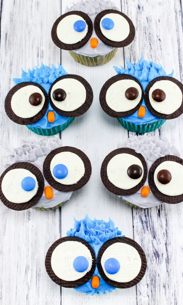 owl cupcakes for birthday party