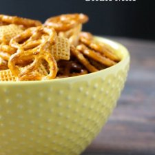 Honey Glazed Crockpot Chex Mix