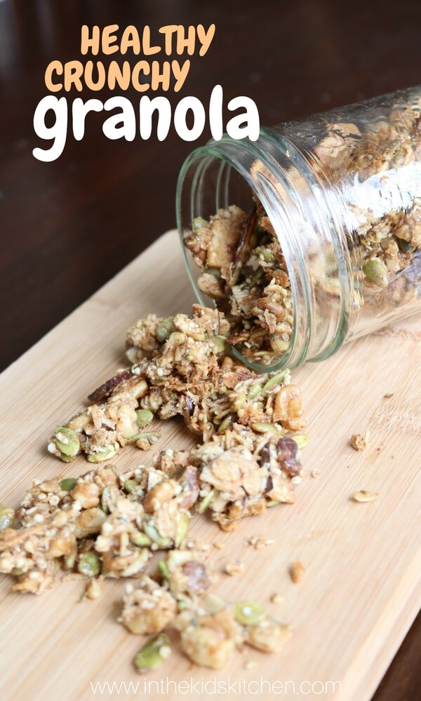How to make healthy homemade crunchy granola