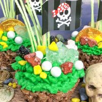 Pirate Cupcakes with Cocoa Krispies