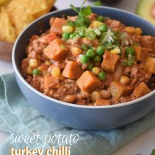 Healthy Sweet Potato & Turkey Chili
