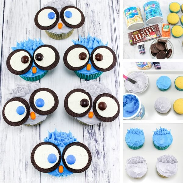 hoot cupcakes photo collages