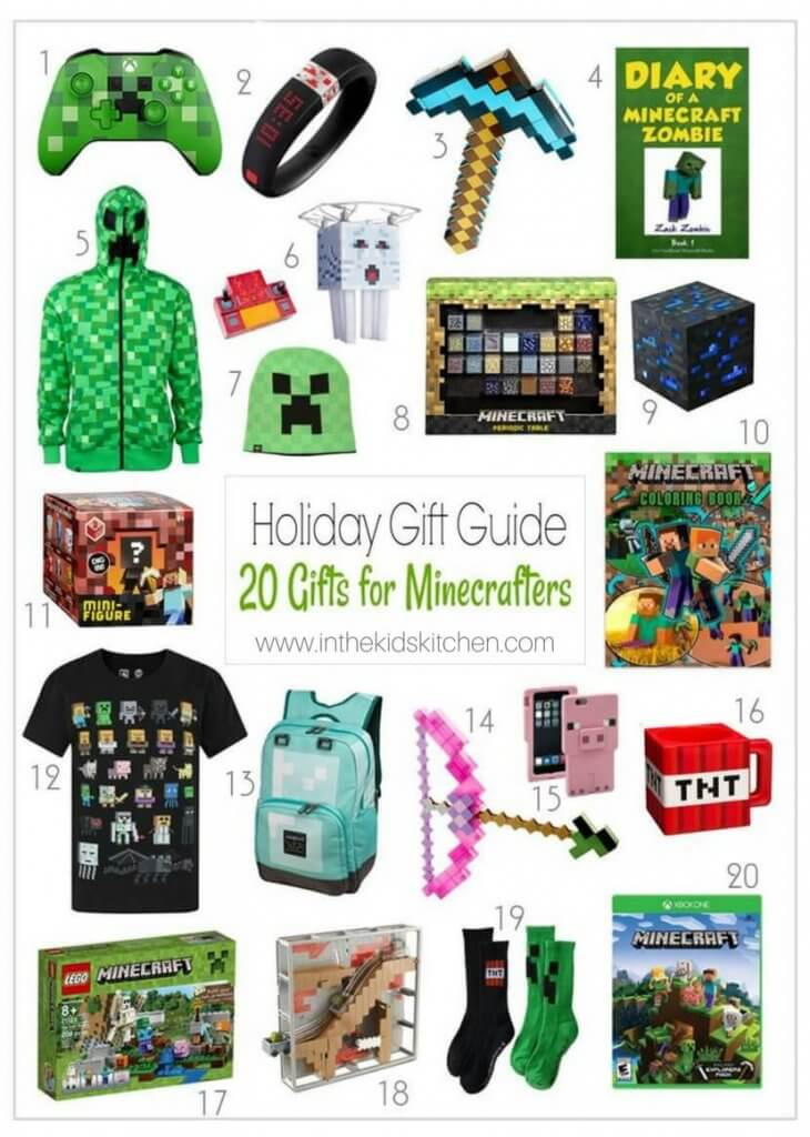 Know a kid who's obsessed with minecraft? We've assembled a shop-able list of 20 Awesome Minecraft Gift Ideas just in time for the holiday gifting season!