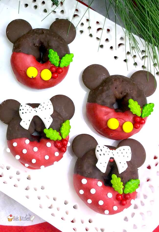 Mickey Amp Minnie Christmas Donuts In The Kids Kitchen