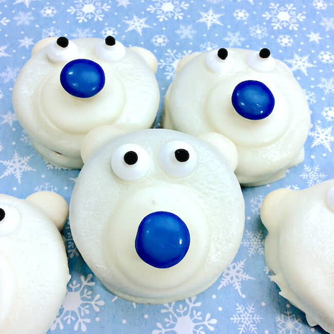 Cute Easy Polar Bear Oreos In The Kids Kitchen