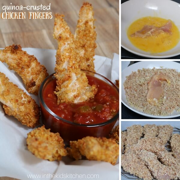 Crunchy on the outside, tender and juicy on the inside - our Quinoa Crusted Chicken Fingers are a deliciously healthy update on a comfort food classic!
