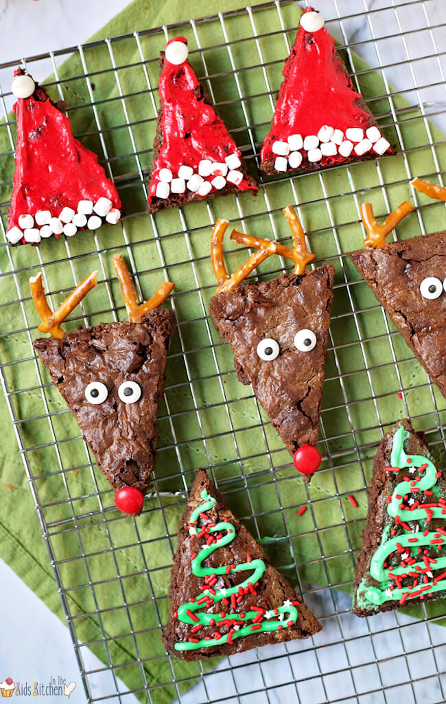 How to make 3 different Christmas brownies with one recipe