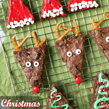 Christmas Brownies – 3 Different Ways (with recipe video)