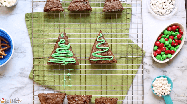 Make 3 different adorable Christmas brownies from the same recipe!How to make Santa hat brownies, Rudolph brownies, and Christmas tree brownies.