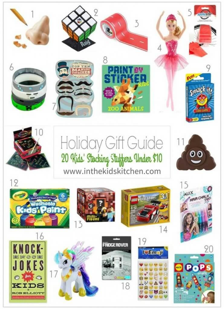 Make Christmas special, without breaking the bank! A list of cool and useful stocking stuffers for kids that are all under $10 each (but don't look cheap!)