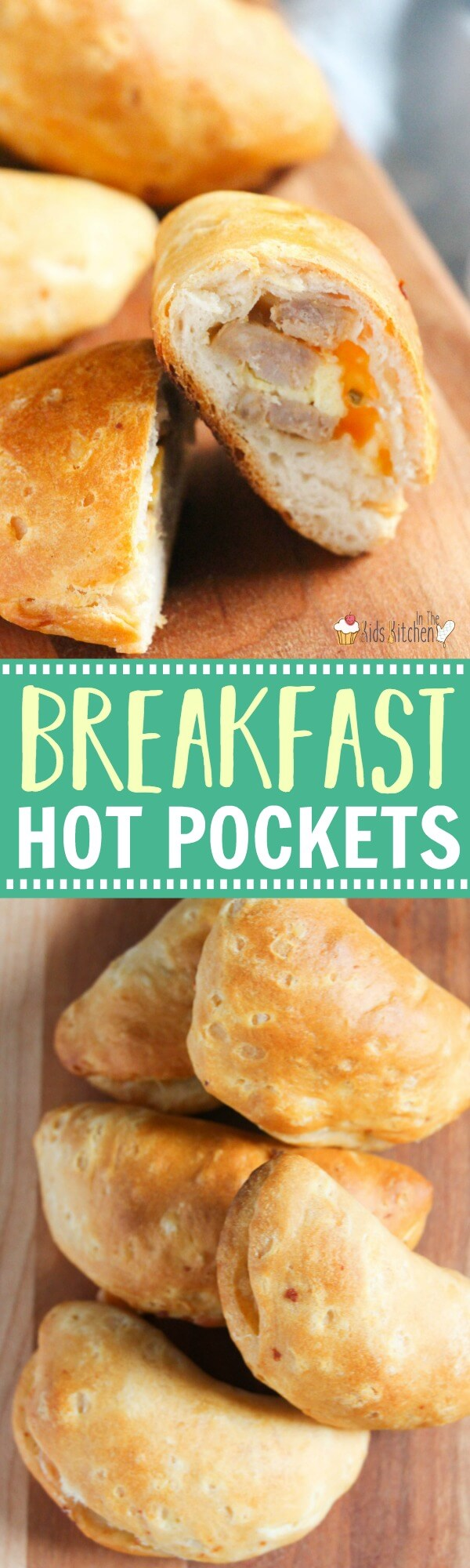 An easy make-ahead breakfast that kids will love! Sausage & Egg Breakfast Hot Pockets are perfect for on-the-go families to eat a wholesome morning meal and provide energy for hours! #breakfast #recipe