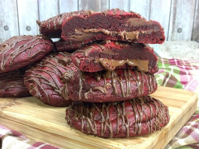 How to make Nutella filled red velvet cookies