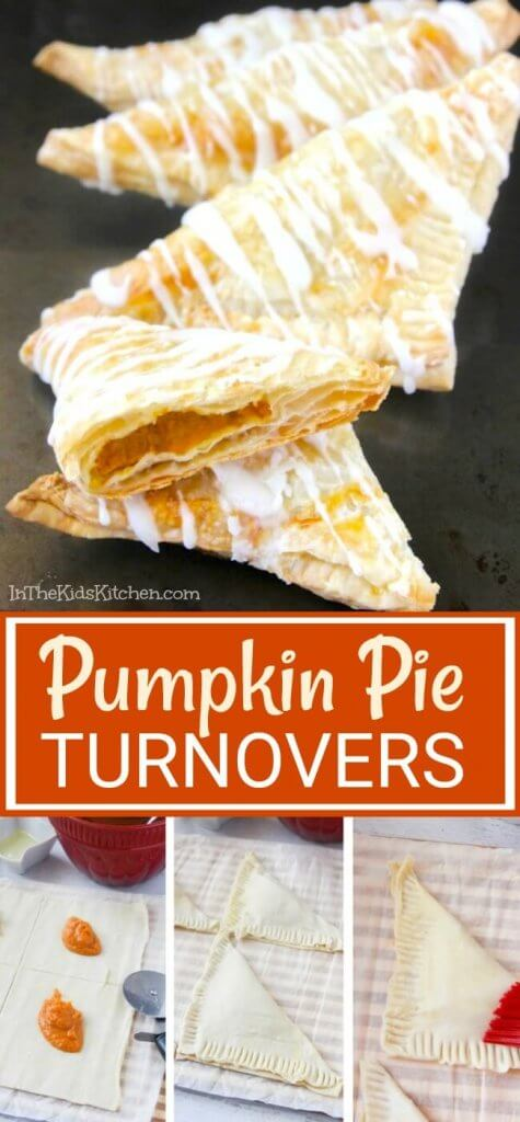 These Pumpkin Pie Turnovers are the perfect Fall breakfast!