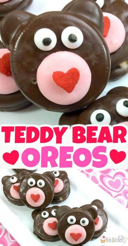 Cute chocolate covered Teddy Bear Oreos for Valentine's Day!