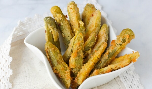 Make easy fried pickles at home - just like restaurants! A southern treat, fried dill pickle spears make the perfect unique party appetizer or snack!