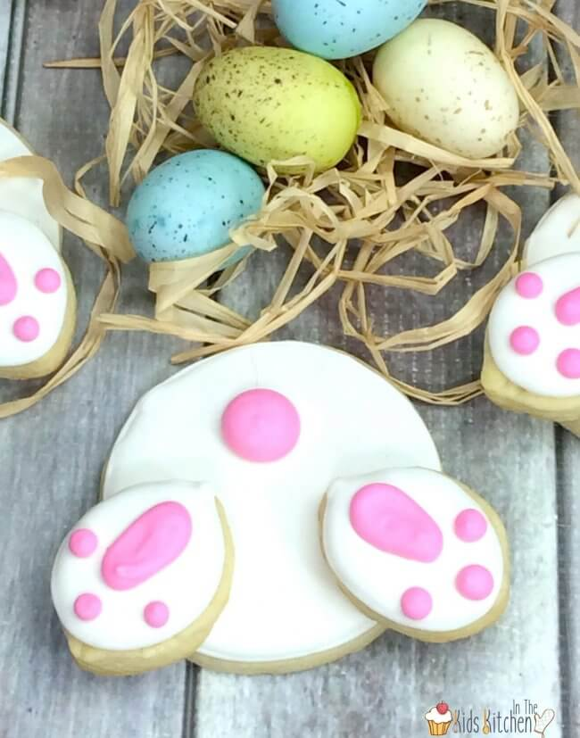 How to make bunny butt sugar cookies for Easter