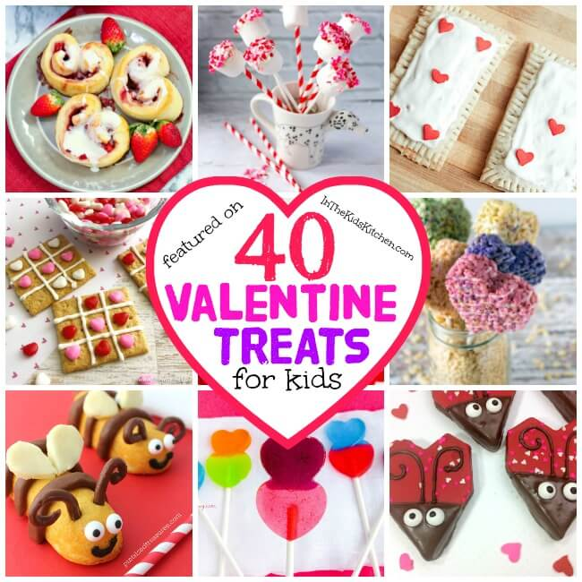 More than 40 adorable Valentine's Day Treats to make and enjoy with kids - from healthy snacks, to cute cookies, clever candy ideas, and more homemade desserts and goodies!