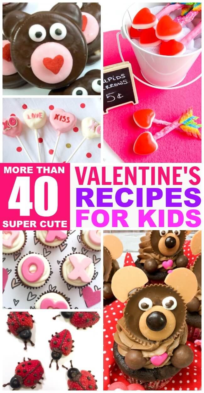 So many super cute ideas!! Click to see all of the best Valentine's Day recipes for kids!