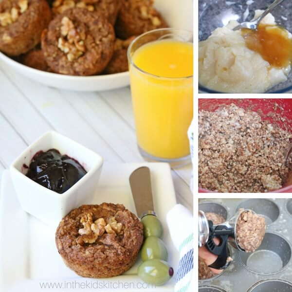 How to make healthy oatmeal muffins - collage