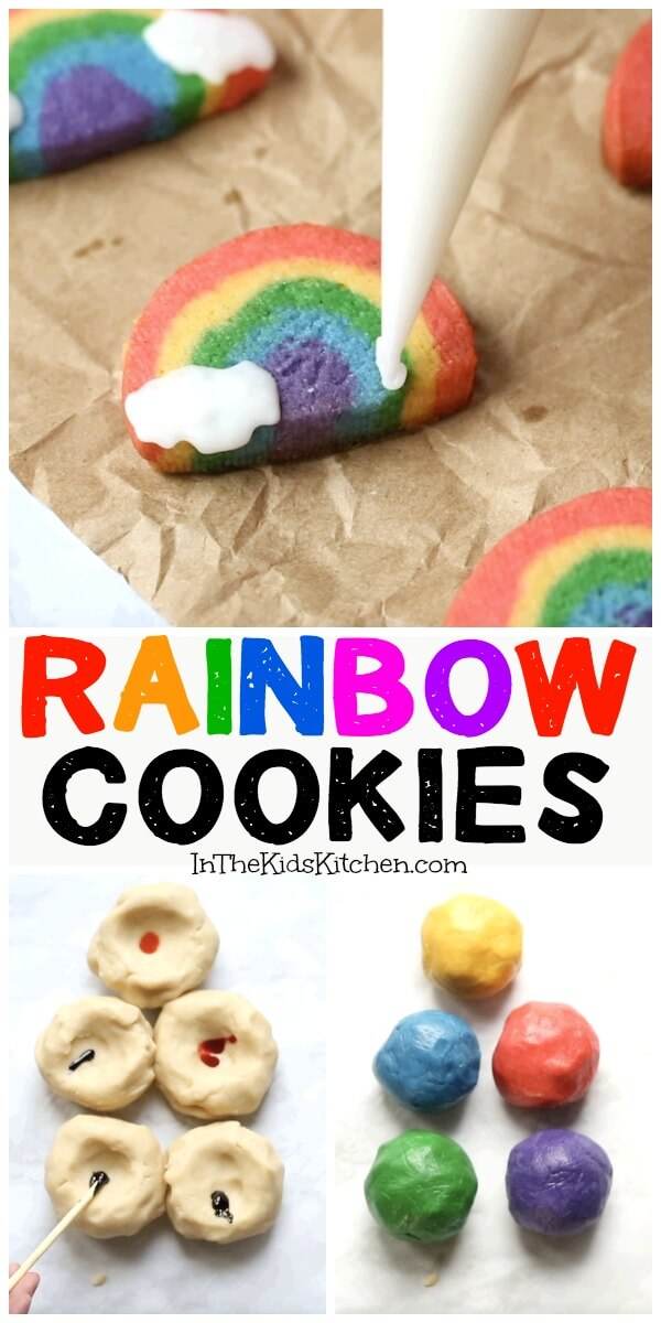 How to make easy rainbow cookies with frosting clouds