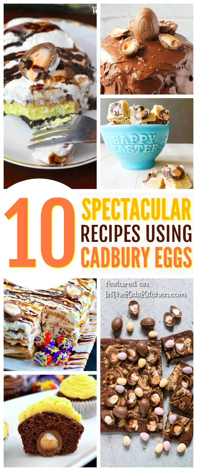 The quintessential Easter candy transformed! A collection of the 10 BEST over-the-top AMAZING Cadbury Eggs Recipes, from breakfast to dessert!