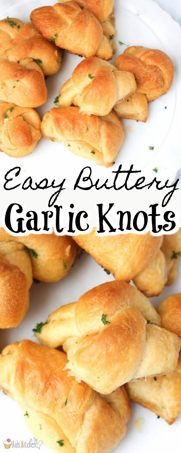 Layers of buttery, flaky goodness topped with a crispy golden crust - these easy garlic knots are seriously addictive!!