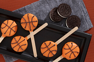 Father's Day food ideas - basket ball OREO pops