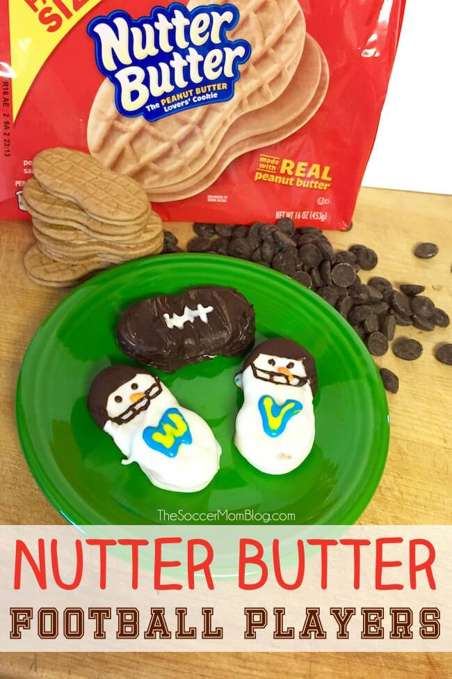 Nutter Butter football players - Father's Day food ideas