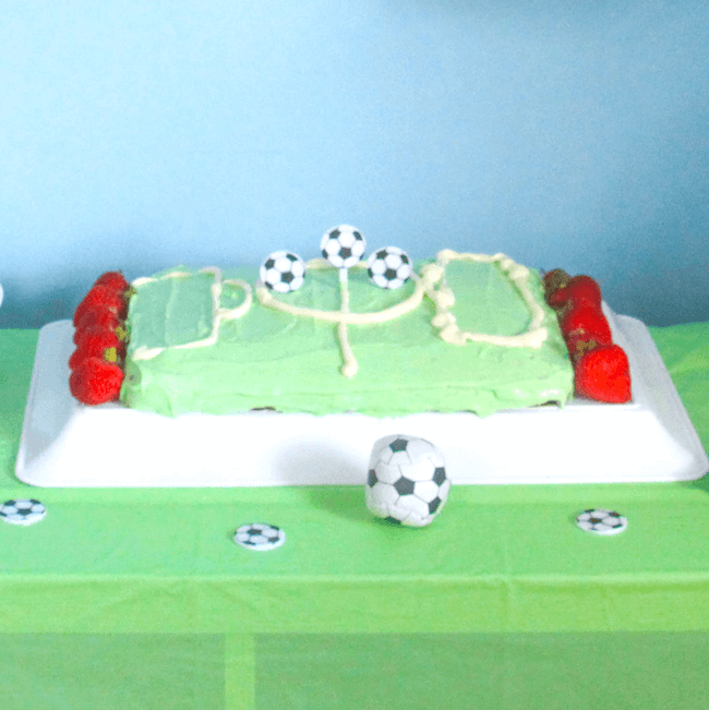 soccer field cake - Father's Day recipe