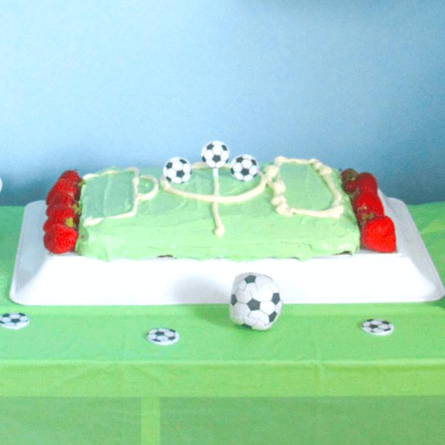 soccer field cake - Father's Day recipe