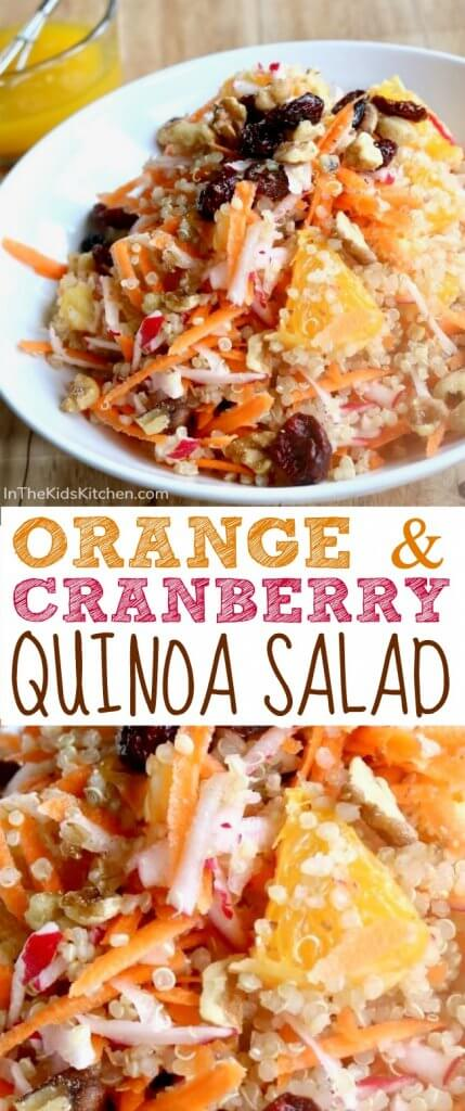 This tangy and vibrantOrange Cranberry Quinoa Salad is perfect for make-ahead healthy meal prep or as a quick & easy potluck party side dish.