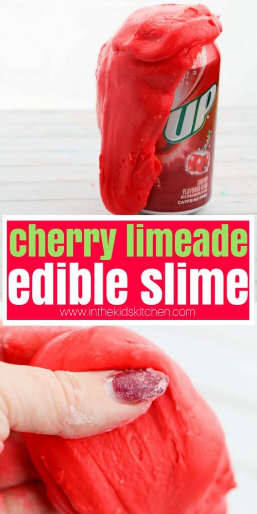 A fun slime recipe inspired by our popular Copycat Cherry Limeade recipe, this Edible Cherry Limeade Slime is super easy to make and completely edible!
