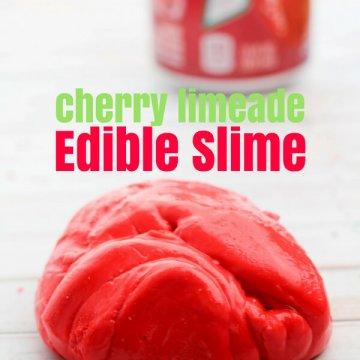 Edible Cherry Limeade Slime