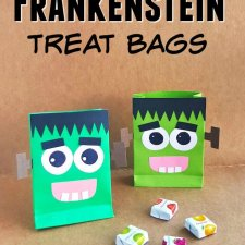 Friendly Frankenstein DIY Halloween Treat Bags