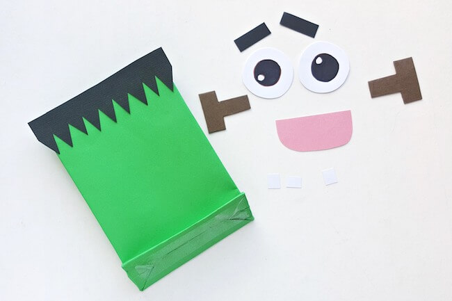 How to make Frankenstein goodie bags