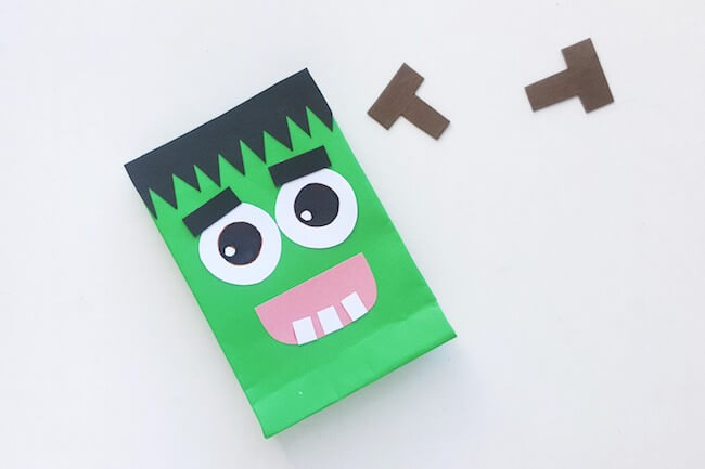 Frankenstein party favor bags